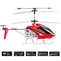 DoDoeleph Syma S39 RC Helicopter with Gyro 3.5-Channel Remote Control Toy Red