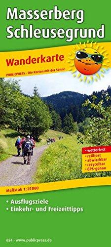 Masserberg - Schleusegrund: Wanderkarte mit Ausflugszielen, Einkehr- & Freizeittipps, wetterfest, reißfest, abwischbar, GPS-genau. 1:25000 (Wanderkarte / WK)