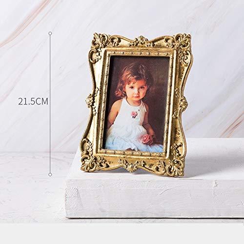LPHOTOCX Bilderrahmen Retro hängender Rahmendekoration der Hochzeitsfoto Wandsechseuropäischer Satz desZoll, H