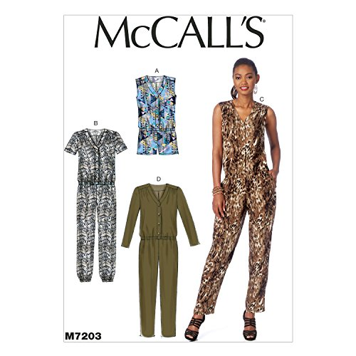 McCall's Patterns M7203 Misses' Romper and Jumpsuits Sewing Template