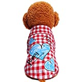 Cutogain Classic Pet Dog Teddy Polyester Clothes Fashion Dog T-shirt Vest Dog Shirt Pet Supplies