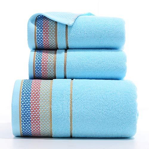 CXBHB Handtücher, Handtuch, Handtuch, Mitarbeitervorteile, Geschenk, Handtuchset, Baumwolltuch, Handtuch, Handtuch, 3-teilig, 7, 1 Bath Towel + 2 Towels