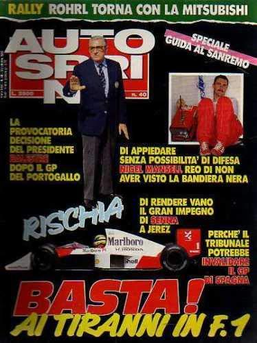 Autosprint 40 Ottobre 1989 Mansell, Senna-Rally Sanremo Lancia Delta 16V