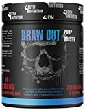 GYM-NUTRITION — DRAW OUT HARDCORE PUMP BOOSTER | Extreme Pre workout Ohne Koffein | Hochdosiert | Sehr Beliebt Bei Hardcore Bodybuildern | Made in Germany | Geschmack: Blackberry KEIN KRIBBELN EINWEG