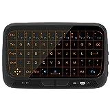 penkou Mini-Wireless-Multimedia-Tastatur ganze Panel große Touch-Pad-Maus Combo mit Hintergrundbeleuchtung/Smart TV/Android TV Box/Windows PC (H18 +)