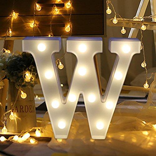 HLHN Buchstabenbeleuchtung mit LED-Lichtern, Weiß, Kunststoff, hängend, N-Z