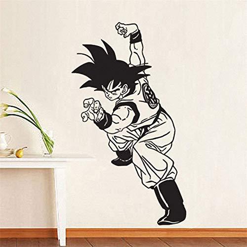 jiushizq Goku Boy Wandtattoo Vinyl Aufkleber s Anime Cartoons Home Decoration Art Entfernbare Wandaufkleber Rosa 58 x 103 cm