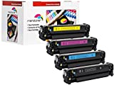 4 Toner kompatibel für HP LJ Pro 300 400 Color M351A M375NW M451 M475 CE410A-413A