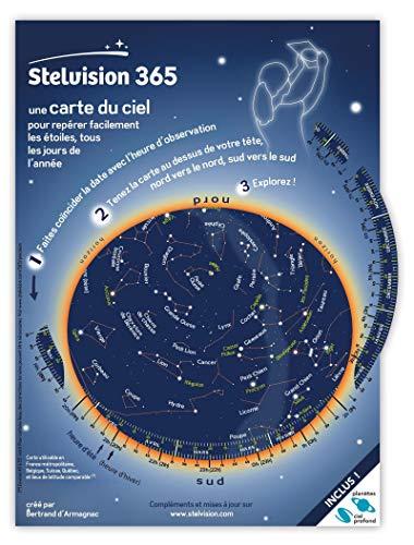 Stelvision 365: Une carte du ciel pour repérer facilement les étoiles, tous les jours de l'a