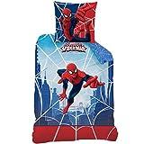 Spiderman Wende Bettwäsche Set 135x200cm + 80x80cm, Biber/Flanell, 100% Baumwolle, Web 44941 CTI