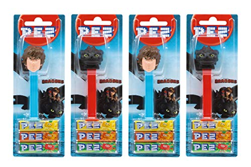 PEZ set dispensadores Dragons 4 dispensadores PEZ