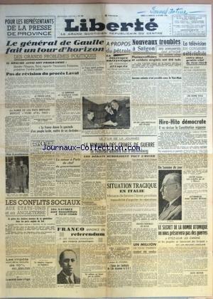 LIBERTE [No 335] du 14/10/1945 - POUR LE...