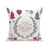 BURFLY Kissen ♥♥ 2017 Weihnachten Super Soft Square 45cm x 45cm Wurf Kissen Kissenbezug Fall (E)