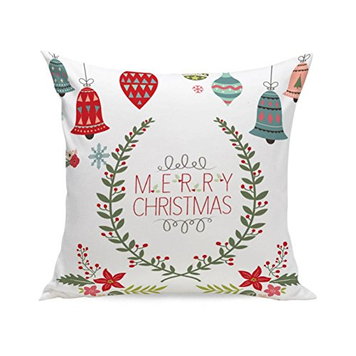 Outfit Frau Claus (BURFLY Kissen ♥♥ 2017 Weihnachten Super Soft Square 45cm x 45cm Wurf Kissen Kissenbezug Fall)