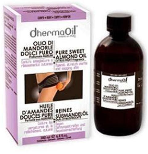 DhermaOil Olio di mandorle dolci puro contro smagliature profumato agli agrumi
