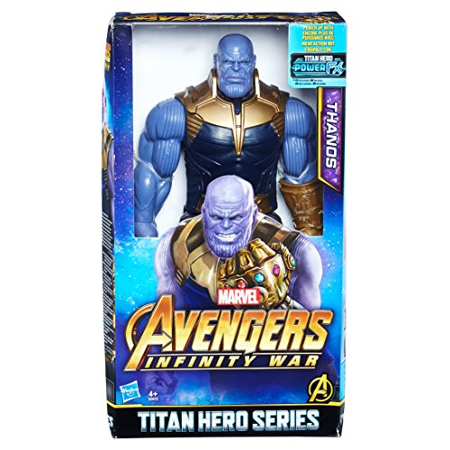 2EU4 Marvel Titan Hero Power FX Thanos, Actionfigur (Iron Man-power)