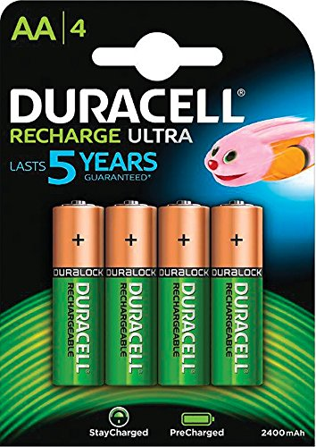 Duracell StayCharged 2400mAh AA Rechargeable Batteries - 4 Pack Aa 4 Pack
