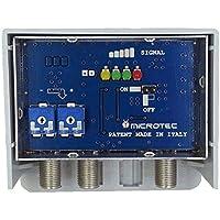 Amplificatore da palo per antenne digitali con visualizzatore dell'intensità del segnale ricevuto. Due ingressi: VHF, UHF, guadagno 32-36 dB, per zone con segnale debole.