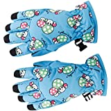 Generic Pair Anti-slip Winter Warm Breathable 2-4 Years Children Kids Ski Skating Gloves Sky Blue
