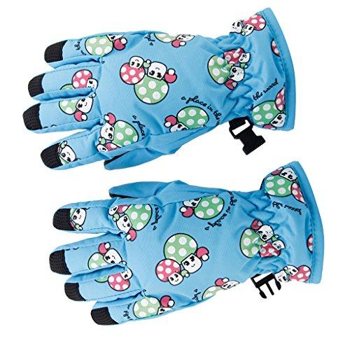 1 Paar Winter Warm Atmungs 2 4 Jahre, Kinder, Kinder Ski Handschuhe (Blau) | 00612058627315