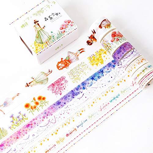 HAWSOIFHDUUUS Acuarela Chica y color de papel Decoración de bricolaje Imprimir...