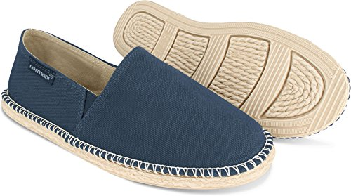 normani Sommer Schuhe - Klassische Espadrillas - Flache Stoffschuhe - Freizeitschuhe für Damen und Herren [Gr. 36-46] Farbe Navy Style 2 Größe 43