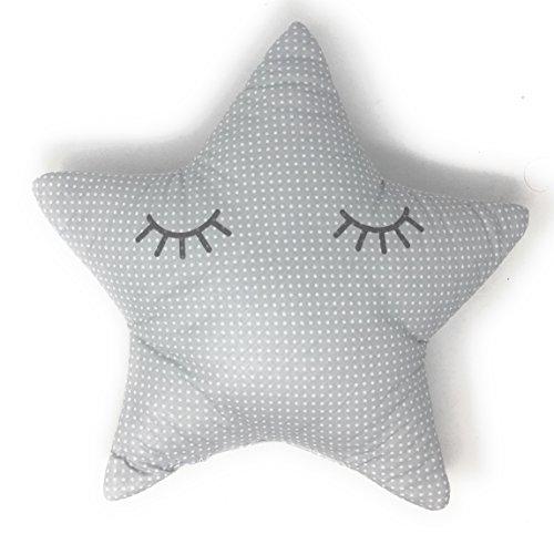 Cojin Decoración Diseño Estrella Durmiendo Ideal para cuna - Danielstore (Gris)