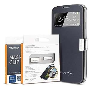 Spigen  Clip magnétique pour Flip Cover pour Samsung Galaxy S4 Argent