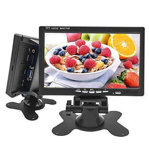 Camecho 1024x600 Mini schermo del computer Schermo di visualizzazione CCTV 7 pollici HD Monitor LCD Backup Monitor di sostegno HDMI / VGA / Video / Audio