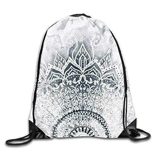 Naiyin Mina Mandala olr Drawstring Bag Backpack Sackpack Shoulder Bags Gym Bag Lightweight Gym for Men and Women Hiking Swimming Yoga