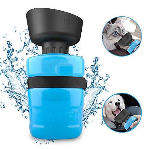 Cinati Botellas para Perros Portatil, 520 ml Botella de Agua para Mascotas...