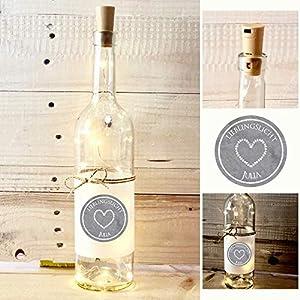 Lieblingslicht, Geschenk mit Namen, Flaschenlicht