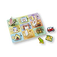Melissa & Doug Magnetic Hide & Seek Board (Developmental Activity Toy, 9 Pieces)