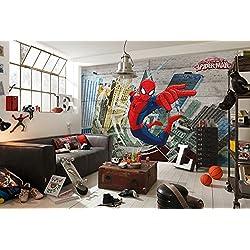 Komar –Papel Pintado de Spider-Man (Marvel) diseño de hormigón,, 8Piezas