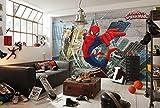 Komar Fototapete aus Papier Spider-Man Concrete, 368 x 254 cm, 8 Teile, Vinyl,...