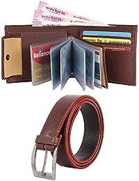 0617d97f0ab KEZRO Men s Reversible Buckle Belt   Wallet Combo