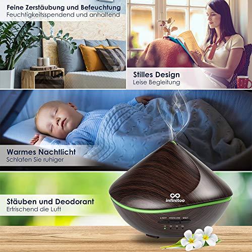 Aroma Diffuser, Luftbefeuchter infinitoo 500ML Sanddüne Design   Raumbefeuchter Ultraschall mit 7 LED Farbwechsel fuer Wohnzimmer, Kinderzimmer, Schlafzimmer, Baby, SPA, Büro