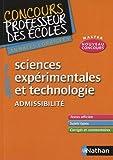 Image de Sciences expérimentales et technologie Admissibilité : Annales corrigées CRPE