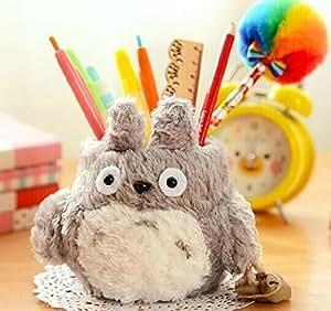 NO:1 Porte-crayons dessin animé Mon voisin Totoro, Porte-stylo, Conteneurs de stylo, Pots à crayons, Pot de pinceau - Gris