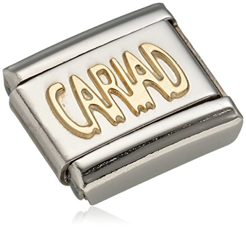 Nomination Composable Women's Charm Classic 18 K Gold CARIAD Lettering Picture 030107 / 20 stainless steel Test