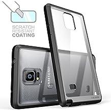 Carcasa Galaxy Note 4 - i-Blason Halo Series Samsung Galaxy Note 4 Funda hibrida transparente anti arañazos / cubierta antigolpes en TPU (Claro/Negro)