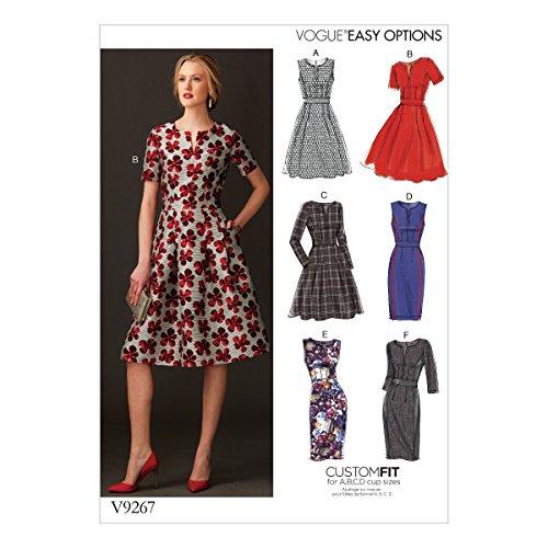 Vogue Mustern Misses Kleid mit Rundum Bund, Mehrfarbig, Größe 6-14 - Bild 1