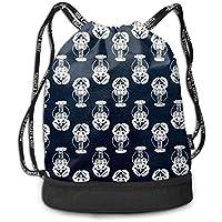 Night 3D Drawstring Bag Sport Gym Travel Bundle Backpack Pack Beam Mouth Shoulder Bags