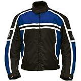 Römer Blouson Moto Washington, Noir/Bleu/Blanc, M