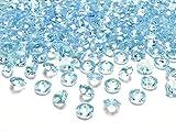 cama24com Dekosteine Diamanten türkis 100 Stück 12mm Durchmesser Deko-Edelsteine Tischdeko Hochzeit Palandi®