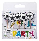 Club Green 2D Fußbälle Kerzenhalter, weiß, 5Kerzen