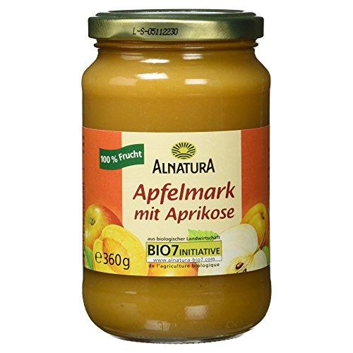 Alnatura Bio Apfelmark mit Aprikose, vegan, 360 g