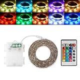 Kreema imprägniern Flexibles Neonlicht 2M RGB 5050 SMD LED die Stimmung, die mit Batterie-Kasten und Fernbedienung für Hauptinnenraum-Dekoration ändert