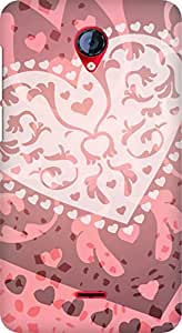 Amez designer printed 3d premium high quality back case cover for Micromax Unite 2 A106 (heart design)