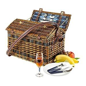 voll ausgestatteter Picknickkorb für 4 Personen